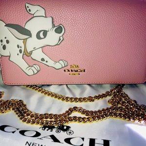 Coach x disney dalmatian dog wallet on chain